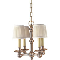 Visual Comfort E.F. Chapman Pimlico 4 Light Chandelier in Polished Nickel CHC2150PN
