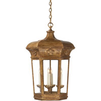 Visual Comfort E.F. Chapman Delville 4 Light Ceiling Lantern in Gilded Iron with Wax CHC2153GI