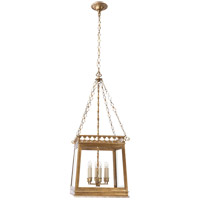 Visual Comfort E.F. Chapman Clover 6 Light Foyer Pendant in Gilded Iron with Wax CHC2155GI
