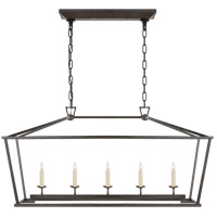 Visual Comfort CHC2156AI E. F. Chapman Darlana 5 Light 41 inch Aged Iron Linear Lantern Ceiling Light