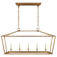 Visual Comfort E. F. Chapman Darlana 5 Light 41 inch Gilded Iron Linear Lantern Ceiling Light  CHC2156GI - Open Box