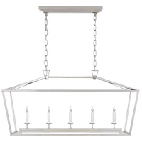 Visual Comfort CHC2156PN E. F. Chapman Darlana 5 Light 41 inch Polished Nickel Linear Lantern Ceiling Light