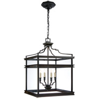 E. F. Chapman Mykonos 4 Light 17 inch Aged Iron with Wax Foyer Pendant Ceiling Light