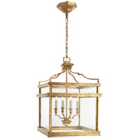 Visual Comfort E.F. Chapman Mykonos 4 Light Ceiling Lantern in Gilded Iron with Wax CHC2161GI