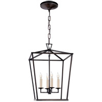 Visual Comfort E.F. Chapman Darlana 4 Light Foyer Pendant in Aged Iron CHC2164AI