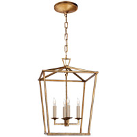 Visual Comfort E.F. Chapman Darlana 4 Light 13-inch Foyer Lantern in Gilded Iron, Small CHC2164GI