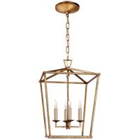Visual Comfort CHC2164GI E. F. Chapman Darlana 4 Light 13 inch Gilded Iron Foyer Lantern Ceiling Light E.F. Chapman Small
