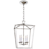 Visual Comfort E.F. Chapman Darlana 4 Light 13-inch Foyer Lantern in Polished Nickel, Small CHC2164PN