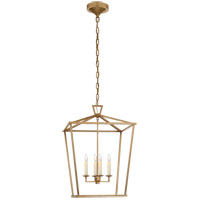 Visual Comfort CHC2165AB E. F. Chapman Darlana 4 Light 17 inch Antique-Burnished Brass Foyer Lantern Ceiling Light, Medium