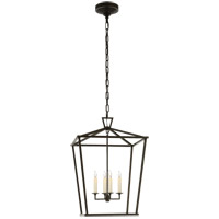E. F. Chapman Darlana 4 Light 17 inch Aged Iron Foyer Lantern Ceiling Light