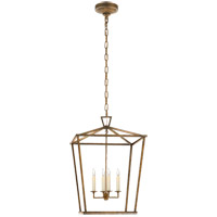 Visual Comfort E.F. Chapman Darlana 4 Light Foyer Lantern in Gilded Iron with Wax CHC2165GI
