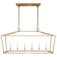 Visual Comfort CHC2166AB E. F. Chapman Darlana 6 Light 54 inch Antique-Burnished Brass Linear Lantern Ceiling Light, Large