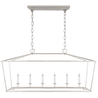 Visual Comfort E.F. Chapman Darlana 6 Light Linear Pendant in Polished Nickel CHC2166PN