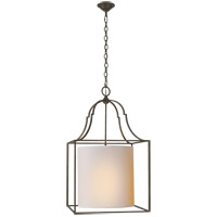 Visual Comfort CHC2167AI-NP E. F. Chapman Gustavian 3 Light 21 inch Aged Iron Foyer Pendant Ceiling Light
