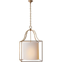 Visual Comfort E.F. Chapman Gustavian 3 Light Foyer Pendant in Gilded Iron with Wax CHC2167GI-NP