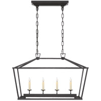 E. F. Chapman Darlana 4 Light 30 inch Aged Iron Linear Lantern Ceiling Light, Small