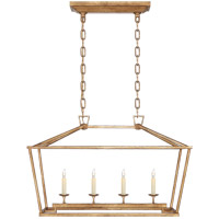 Visual Comfort CHC2168GI E. F. Chapman Darlana 4 Light 30 inch Gilded Iron Linear Lantern Ceiling Light, Small