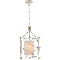 Visual Comfort E.F. Chapman Victoria 1 Light Pendant in Burnished Silver Leaf CHC2169BSL-NP