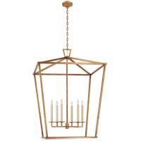 Visual Comfort CHC2172GI Chapman & Myers Darlana 6 Light 36 inch Gilded Iron Lantern Pendant Ceiling Light XXL