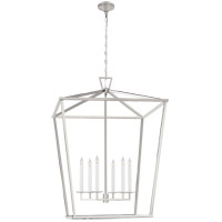 Visual Comfort CHC2172PN Chapman & Myers Darlana 6 Light 36 inch Polished Nickel Lantern Pendant Ceiling Light XXL