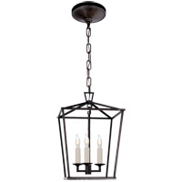 Visual Comfort E.F. Chapman Darlana 3 Light Foyer Pendant in Aged Iron CHC2175AI