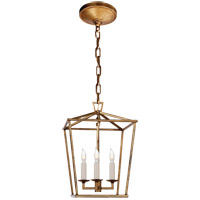 Visual Comfort E.F. Chapman Darlana 3 Light Foyer Pendant in Gilded Iron CHC2175GI