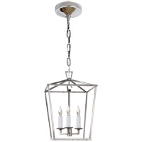 Visual Comfort E.F. Chapman Darlana 3 Light Foyer Pendant in Polished Nickel CHC2175PN
