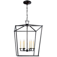 E.F. Chapman Darlana 6 Light 24 inch Aged Iron Foyer Pendant Ceiling Light
