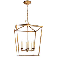 Visual Comfort E.F. Chapman Darlana 6 Light 24-inch Foyer Lantern in Gilded Iron, Large CHC2176GI