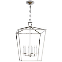 Visual Comfort E.F. Chapman Darlana 6 Light Foyer Pendant in Polished Nickel CHC2176PN