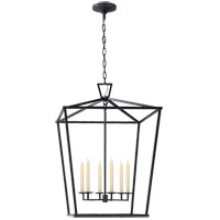 E.F. Chapman Darlana 6 Light 29 inch Aged Iron Foyer Lantern Ceiling Light, E.F. Chapman, Extra Large
