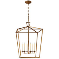 Visual Comfort E.F. Chapman Darlana 6 Light 29-inch Foyer Lantern in Gilded Iron, Extra Large CHC2177GI