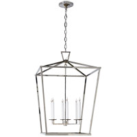 Visual Comfort E.F. Chapman Darlana 6 Light Foyer Pendant in Polished Nickel CHC2177PN