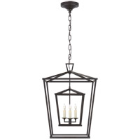 Visual Comfort CHC2178AI E. F. Chapman Darlana 3 Light 17 inch Aged Iron Foyer Lantern Ceiling Light