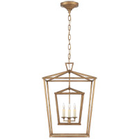 Visual Comfort CHC2178GI E. F. Chapman Darlana 3 Light 17 inch Gilded Iron Foyer Lantern Ceiling Light