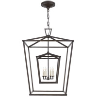 Visual Comfort CHC2179AI E. F. Chapman Darlana 4 Light 24 inch Aged Iron Foyer Lantern Ceiling Light