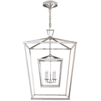 E. F. Chapman Darlana 4 Light 24 inch Polished Nickel Foyer Lantern Ceiling Light
