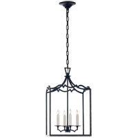 Visual Comfort E.F. Chapman Darlana 4 Light Foyer Pendant in Aged Iron CHC2180AI