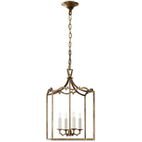 Visual Comfort E.F. Chapman Darlana 4 Light Foyer Pendant in Gilded Iron CHC2180GI