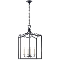 Visual Comfort E.F. Chapman Darlana 4 Light Foyer Pendant in Aged Iron CHC2181AI
