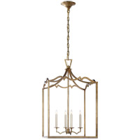 Visual Comfort E.F. Chapman Darlana 4 Light Foyer Pendant in Gilded Iron CHC2181GI