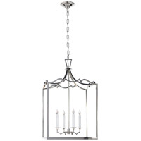 Visual Comfort E.F. Chapman Darlana 4 Light Foyer Pendant in Polished Nickel CHC2181PN