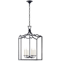 Visual Comfort E.F. Chapman Darlana 6 Light Foyer Pendant in Aged Iron CHC2182AI