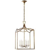 Visual Comfort E.F. Chapman Darlana 6 Light Foyer Pendant in Gilded Iron CHC2182GI