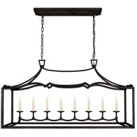 E. F. Chapman Fancy Darlana 8 Light 52 inch Aged Iron Linear Pendant Ceiling Light, Large