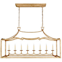 Visual Comfort CHC2183GI E. F. Chapman Fancy Darlana 8 Light 52 inch Gilded Iron Linear Pendant Ceiling Light, Large