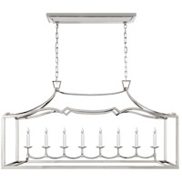 Visual Comfort CHC2183PN E. F. Chapman Fancy Darlana 8 Light 52 inch Polished Nickel Linear Pendant Ceiling Light, Large