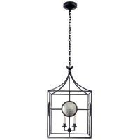 Visual Comfort E.F. Chapman Gramercy 4 Light Foyer Pendant in Aged Iron CHC2186AI