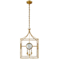 Visual Comfort E.F. Chapman Gramercy 4 Light Foyer Pendant in Gilded Iron CHC2186GI
