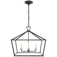 Visual Comfort E. F. Chapman Darlana 4 Light 28 inch Aged Iron Foyer Lantern Ceiling Light, Medium Wide CHC2187AI - Open Box
